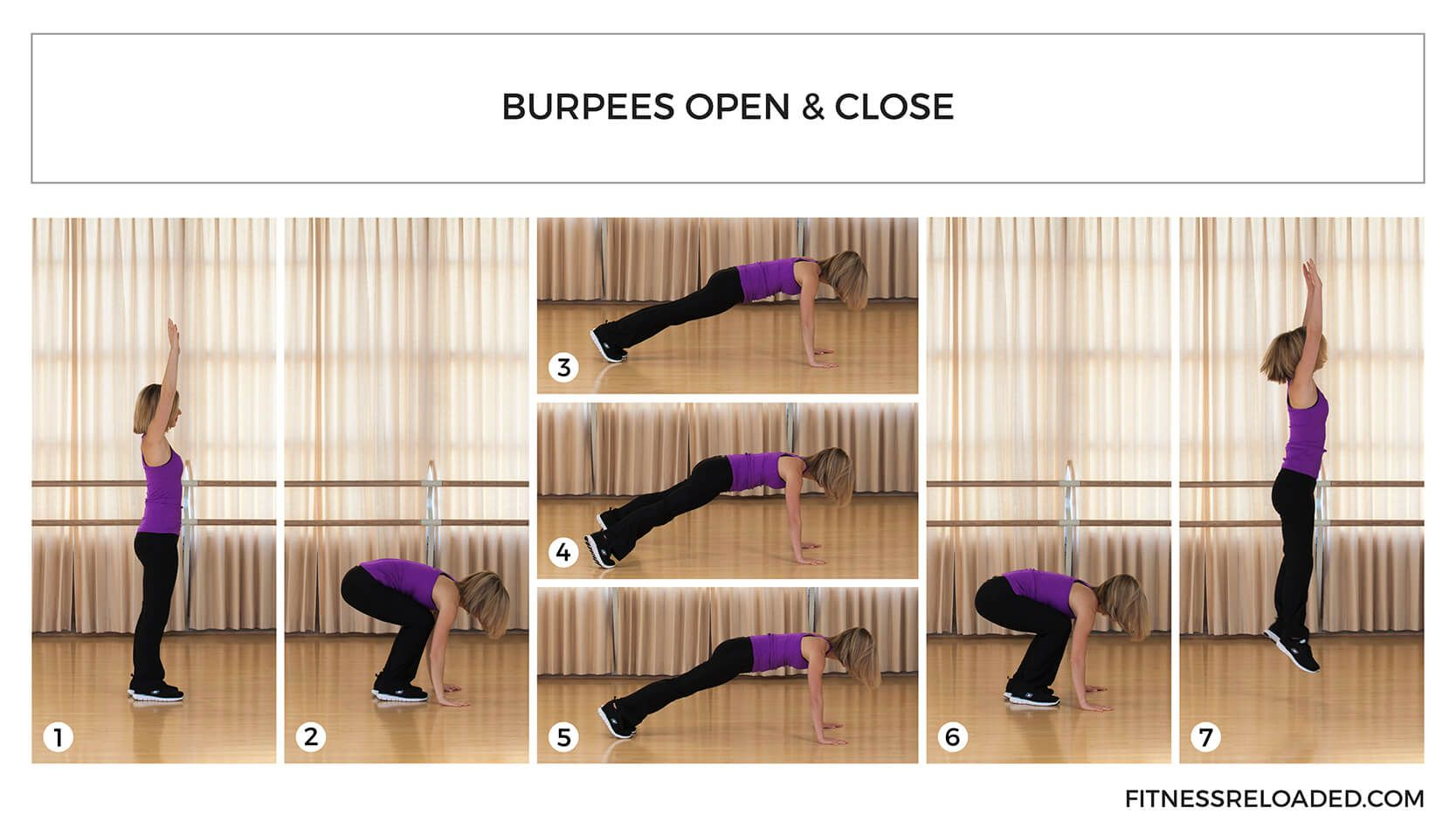 burpees variation open and close