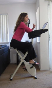 Exercise on the fitdesk