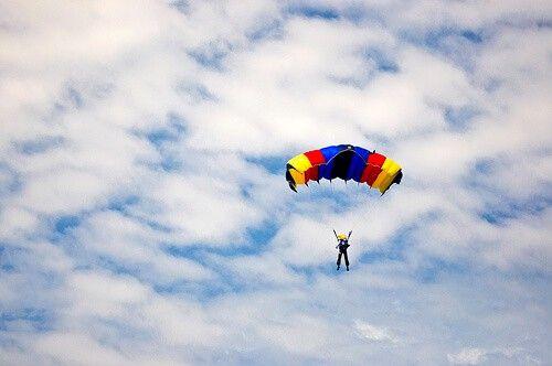 Minds are like parachutes...