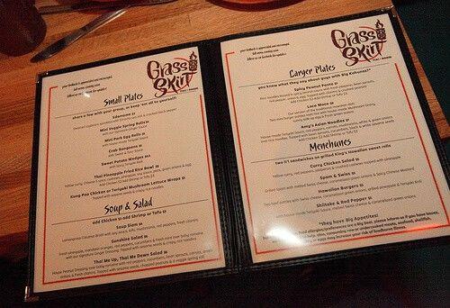 eating out menu