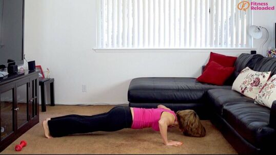 high intensity workout routine with pushups