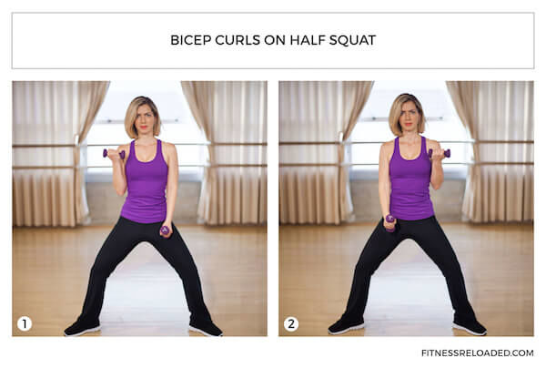bicep curls isotonic exercise