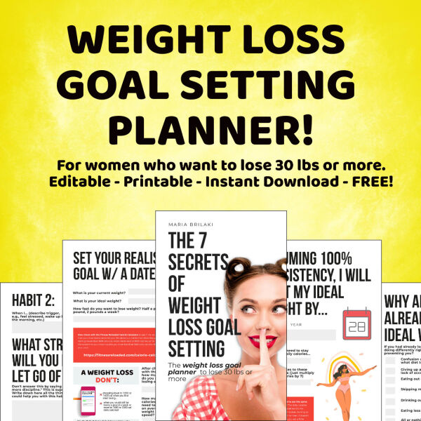 goal setting planner to lose weight