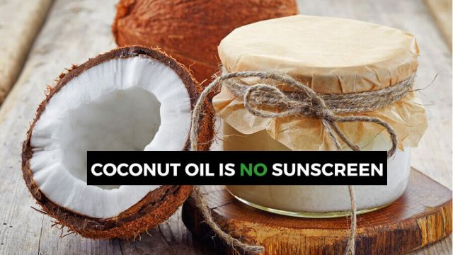 coconut oil as sunscreen