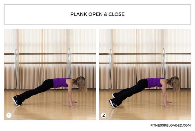 plank open & close isotonic