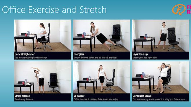 The Office Exercise and Stretch App
