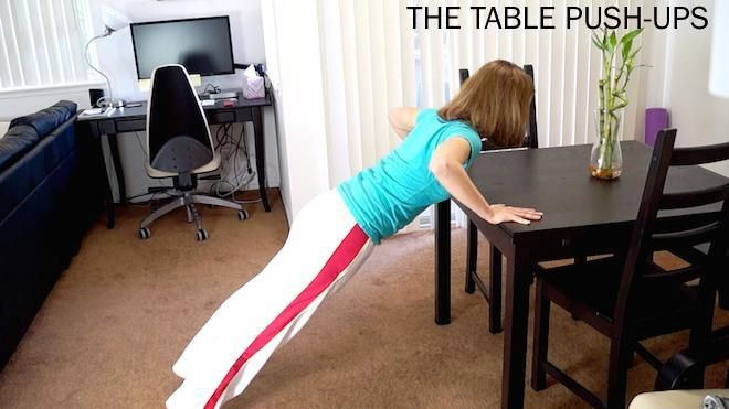 The table push-up