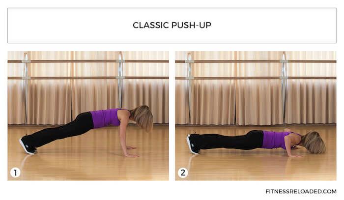 classic push-up variation