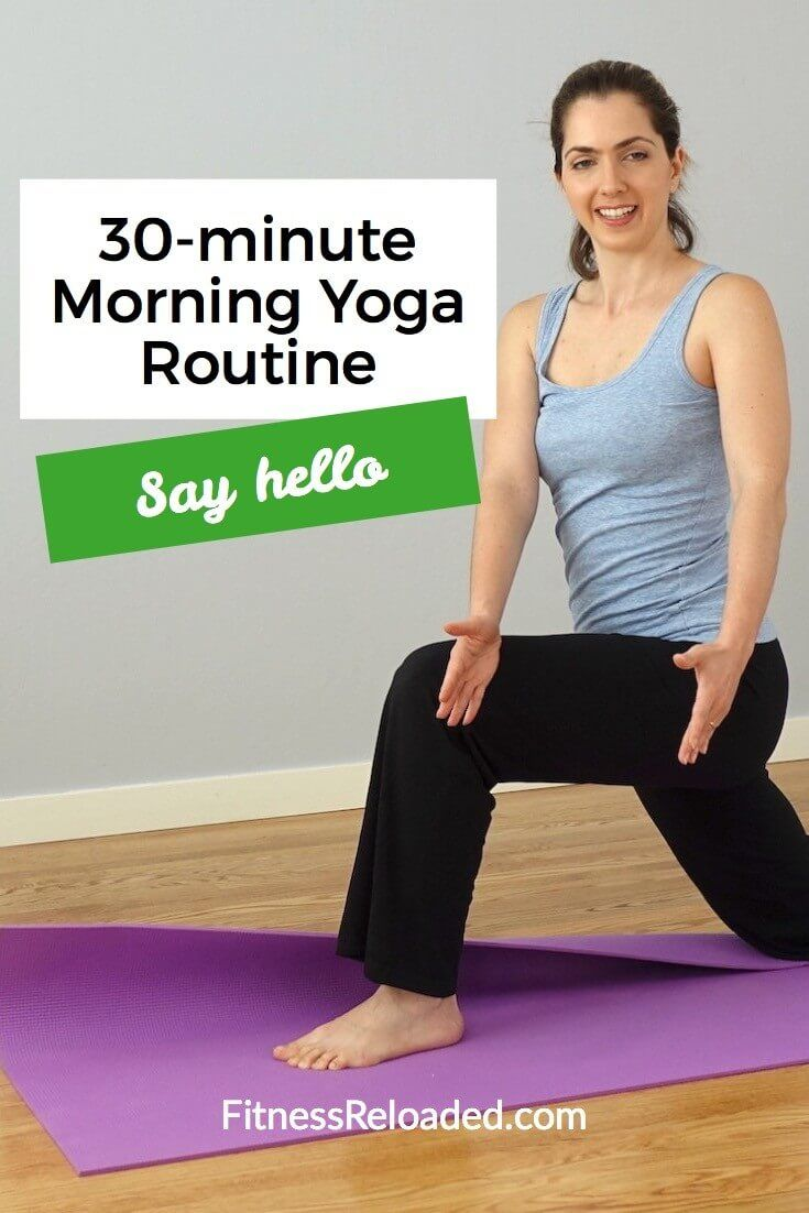 30-min Morning Yoga Routine pinterest