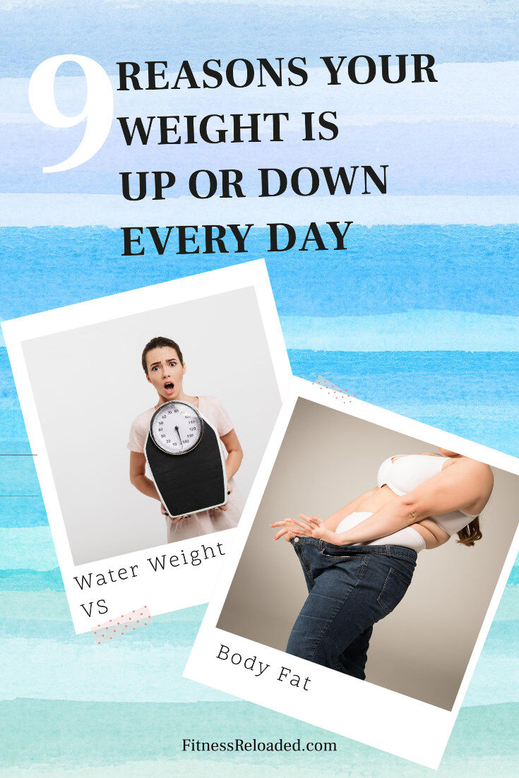 Was the scale up two, three, four, five pounds today? Here's how to explain the daily scale fluctuations and how to know if you're truly losing weight. | Lose Weight | Weight Loss | Weight Loss Tips | Weight Loss Facts
