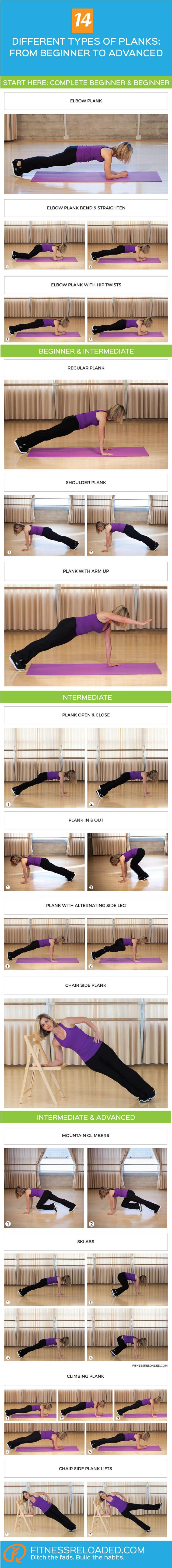 14 different types of planks