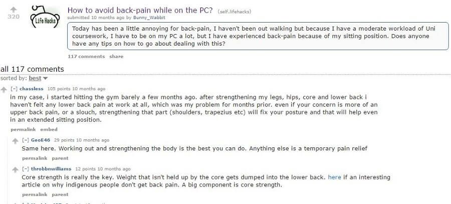 reddit stiff back pain