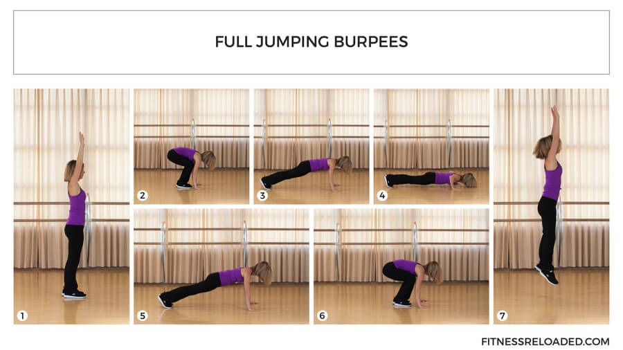 full jumping burpees exercise