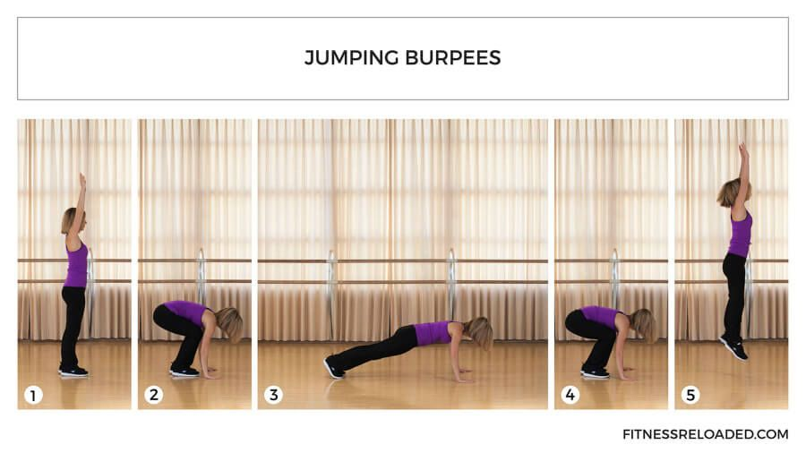jumping burpees