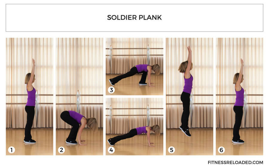 soldier plank basic modified burpee