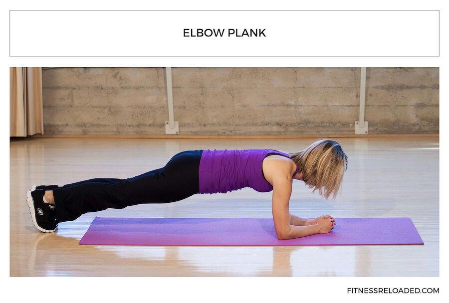 elbow plank beginner yoga