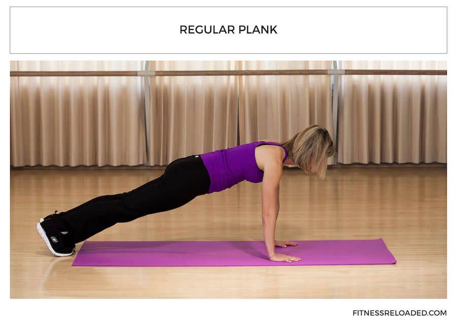 plank variations - regular plank yoga