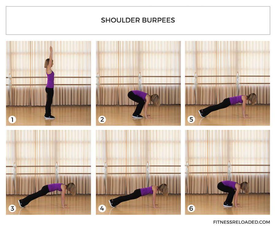 shoulder burpees exercise variation